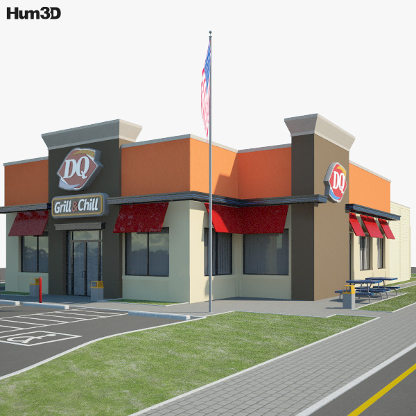 Dairy Queen Restaurant 02 3D model