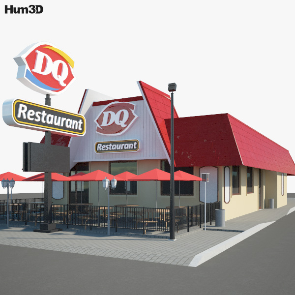 Dairy Queen Restaurant 03 3D model