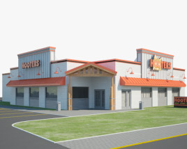 3D model of Hooters Restaurant 01