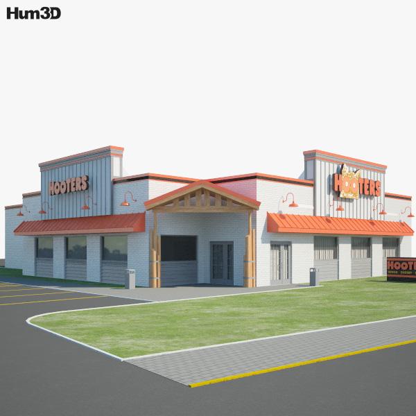 Hooters Restaurant 01 3D model