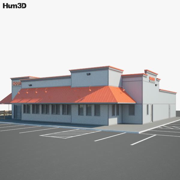 Hooters Restaurant 03 3D model