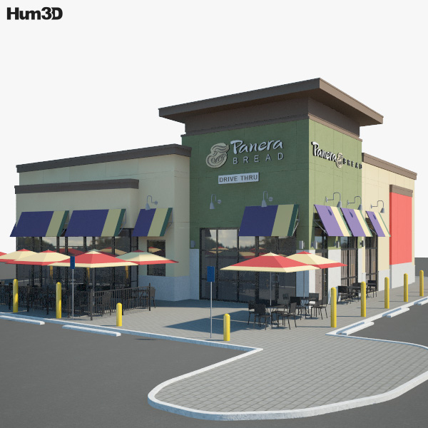 Panera Bread Restaurant 01 3D model