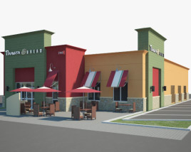 3D model of Panera Bread Restaurant 02