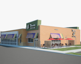 3D model of Panera Bread Restaurant 03