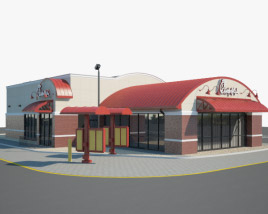 3D model of Chick-fil-A Restaurant 01