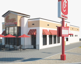 3D model of Chick-fil-A Restaurant 02