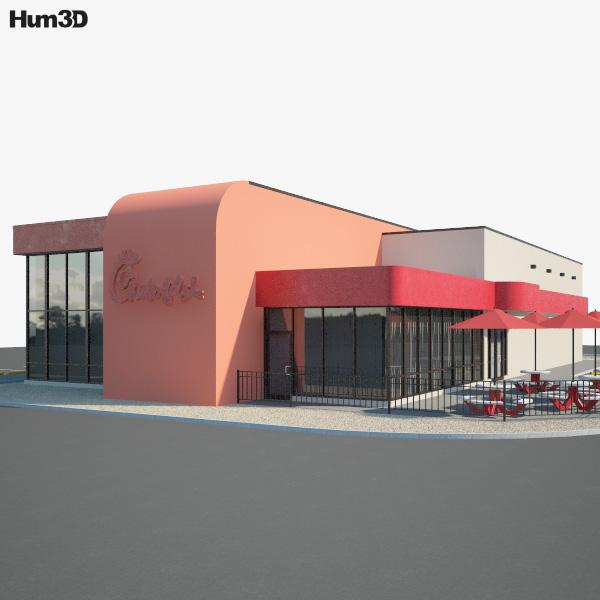 Chick-fil-A Restaurant 03 3D model