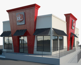 3D model of Jack in the Box Restaurant 01