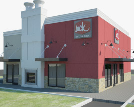 3D model of Jack in the Box Restaurant 02