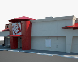 3D model of Jack in the Box Restaurant 03
