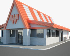 3D model of Whataburger Restaurant 01