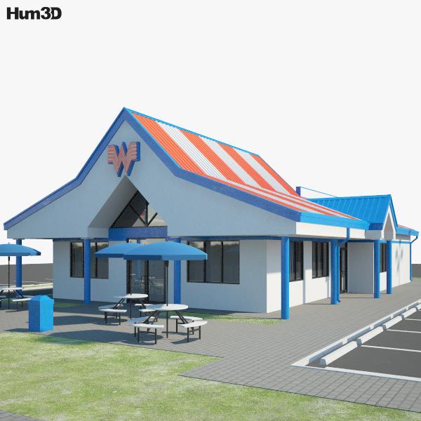 Whataburger Restaurant 02 3D model