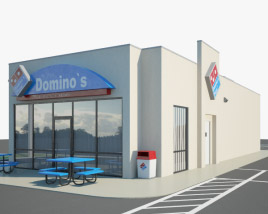 3D model of Domino's Pizza Restaurant 01