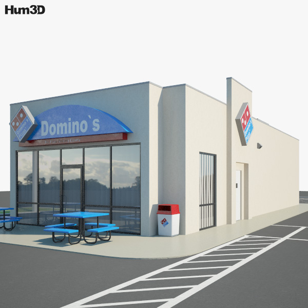 Domino's Pizza Restaurant 01 3D model
