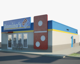 3D model of Domino's Pizza Restaurant 02