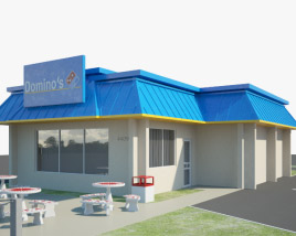 3D model of Domino's Pizza Restaurant 03