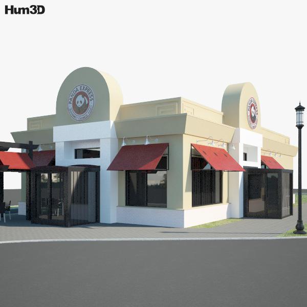 Panda Express Restaurant 02 3D model