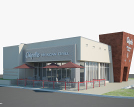 3D model of Chipotle Mexican Grill Restaurant 02