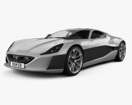3D model of Rimac Concept One 2016