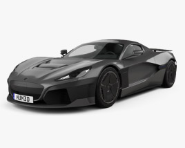 3D model of Rimac C Two 2020