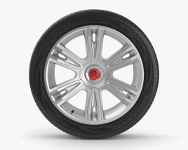 Bentley Flying Spur 22 inch rim 001 3D model