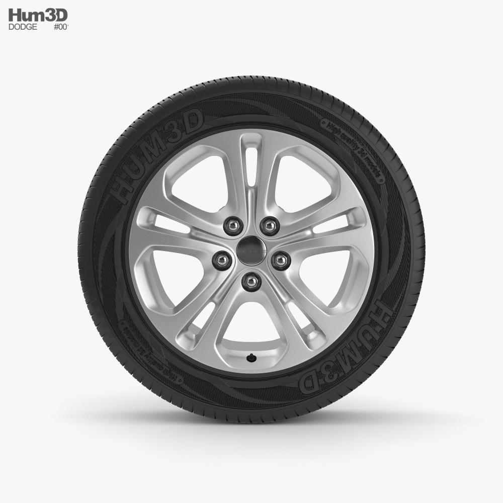 Dodge 18 inch rim 001 3D model