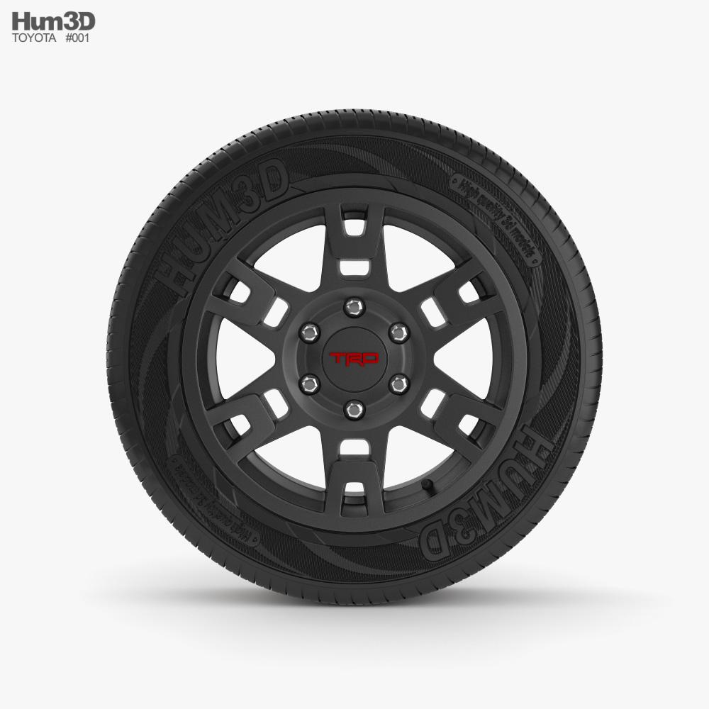 Toyota 4Runner TRD Pro rim 3D model