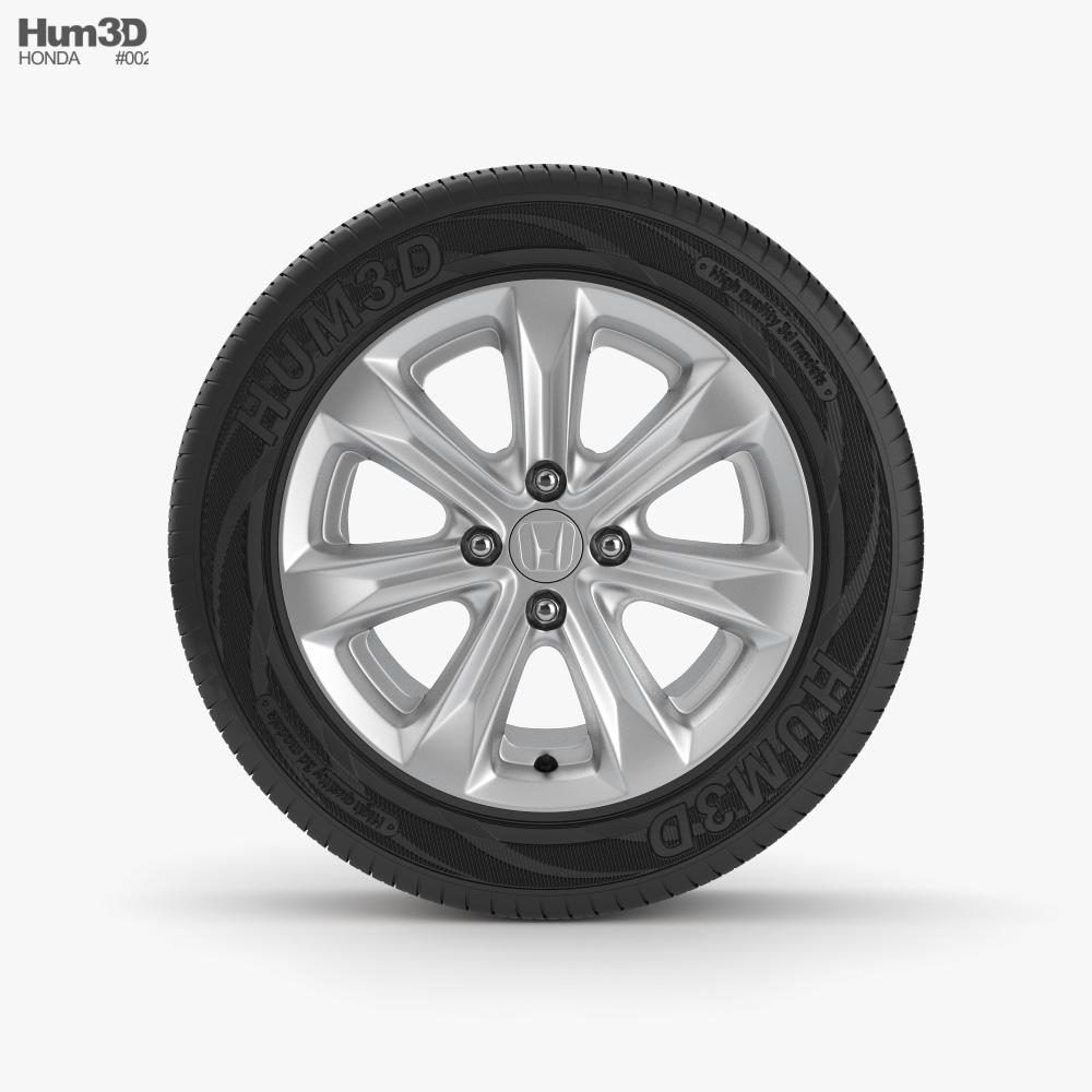 Honda 17 inch rim 001 3D model