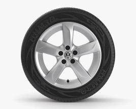 Volkswagen 15 inch rim 001 3D model
