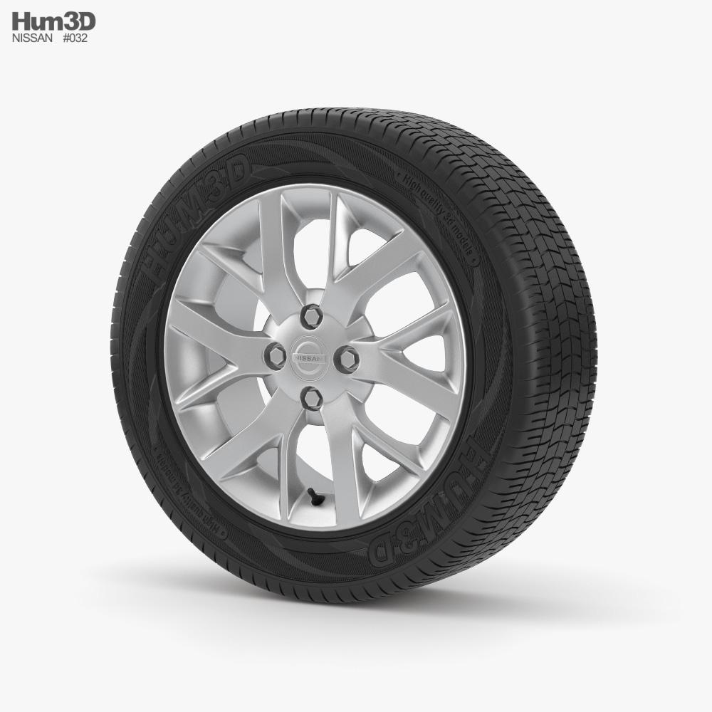 Nissan Wheel 001 3d model
