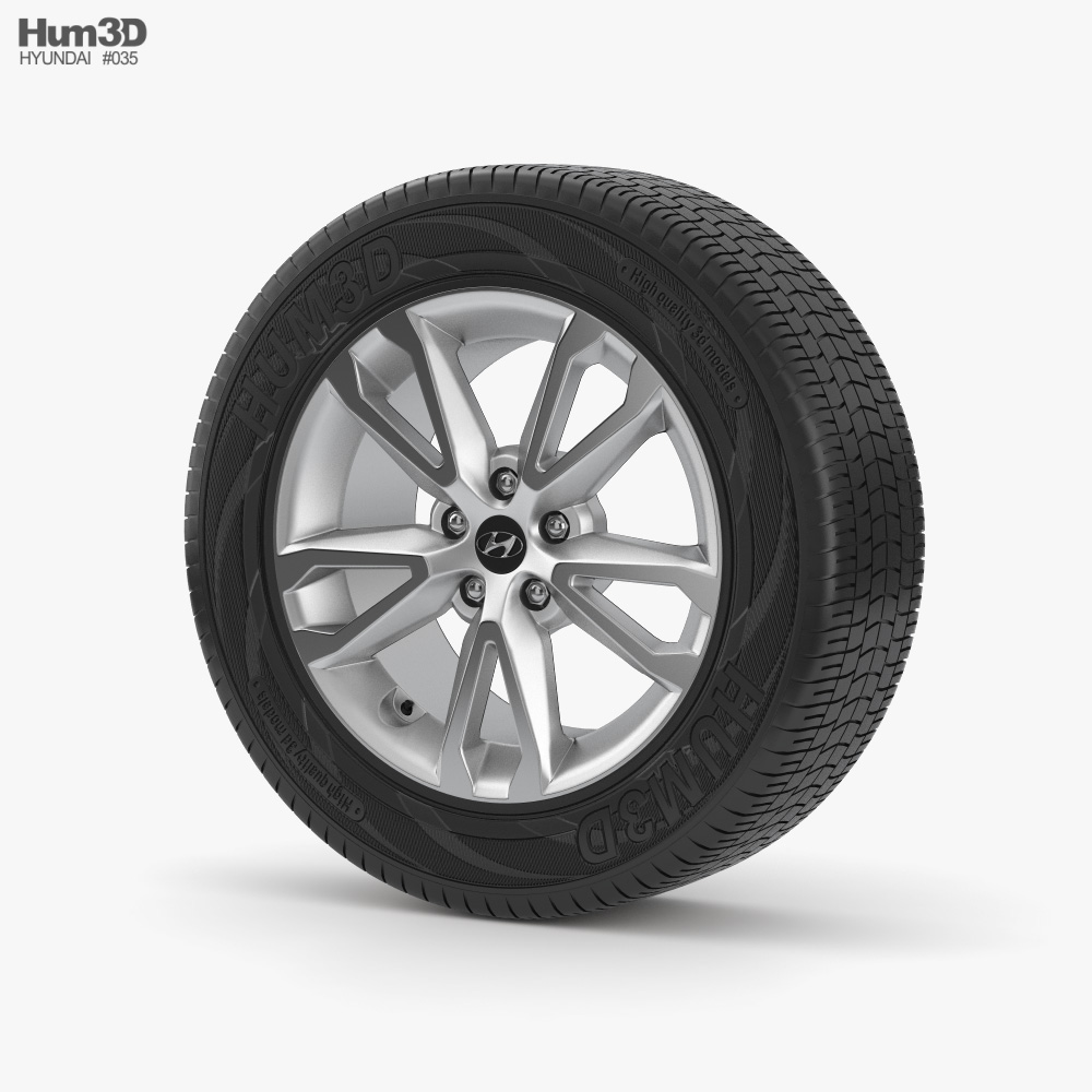 Hyundai 18 inch rim 001 3d model