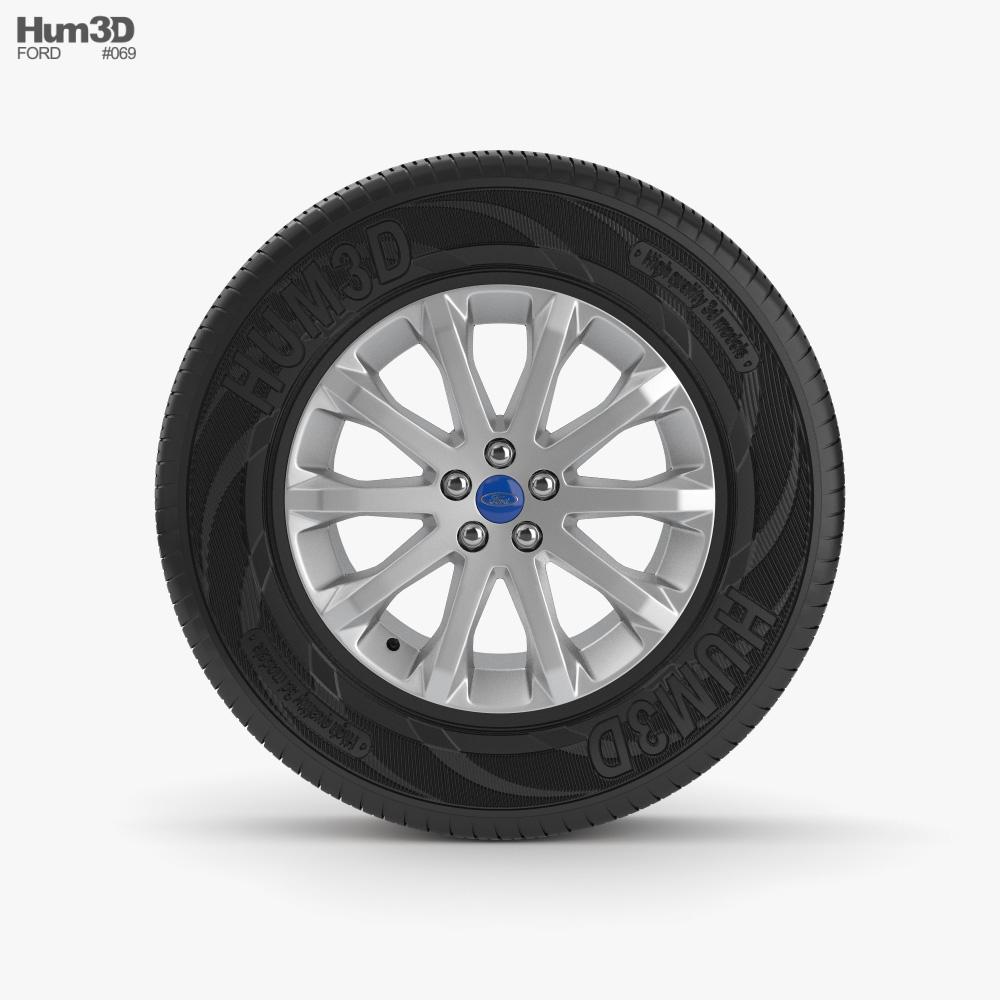 Ford 20 inch rim 001 3D model