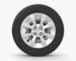 3D model of Kia Rio 15 inch rim 001