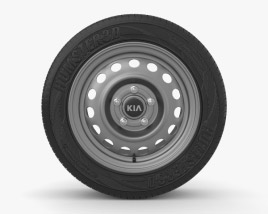 3D model of Kia Cerato 15 inch rim 002