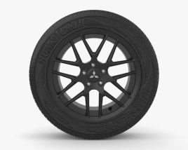 3D model of Mitsubishi Lancer 16 inch rim 004