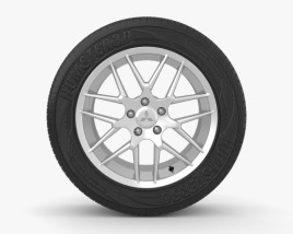 3D model of Mitsubishi Lancer 17 inch rim 001
