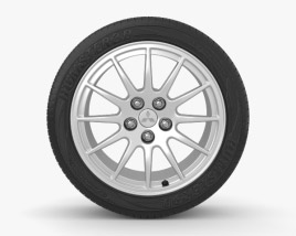 Mitsubishi Lancer Evolution 18 inch rim 001 3D model