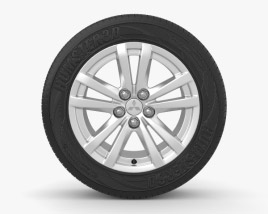 3D model of Mitsubishi ASX 17 inch rim 001
