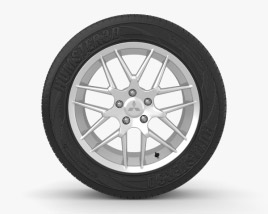 3D model of Mitsubishi ASX 17 inch rim 002
