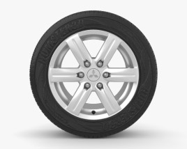 3D model of Mitsubishi Pajero 18 inch rim 002