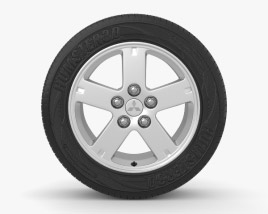 Mitsubishi Outlander XL 16 inch rim 002 3D model