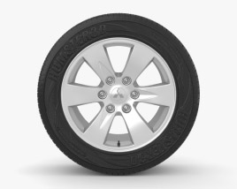 3D model of Mitsubishi L200 16 inch rim 002