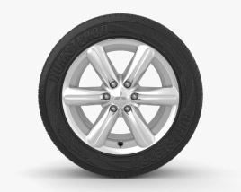 3D model of Mitsubishi L200 18 inch rim 001