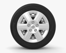 3D model of Nissan Qashqai 16 inch rim 001
