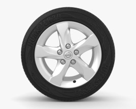 3D model of Nissan Qashqai 16 inch rim 002
