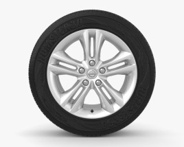 3D model of Nissan Qashqai 17 inch rim 001