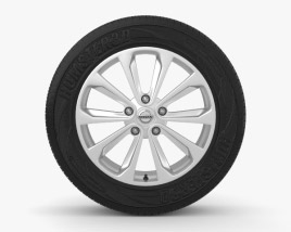 3D model of Nissan Qashqai 18 inch rim 001