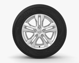 3D model of Nissan X-Trail 17 inch rim 001