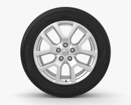 3D model of Nissan X-Trail 18 inch rim 001