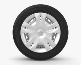 Nissan Tiida Classic 15 inch rim 001 3D model